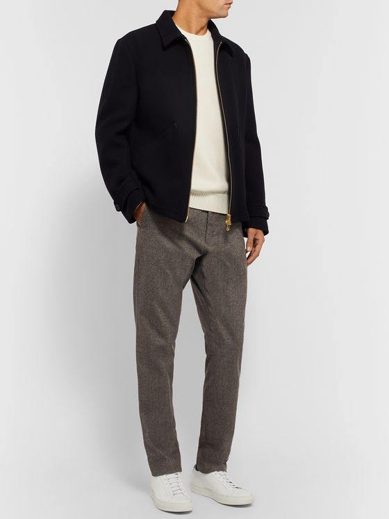 NN07 Copenhagen 1254 Tapered Mélange Cotton-Blend Drawstring Trousers