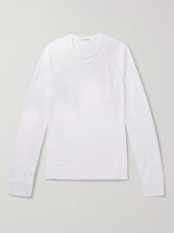James Perse Slub Cotton-Jersey Sweatshirt