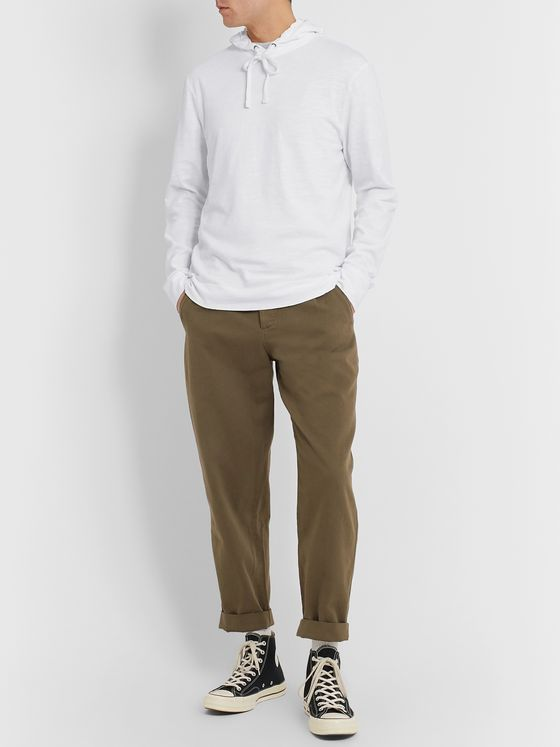 James Perse Slub Cotton-Jersey Hoodie