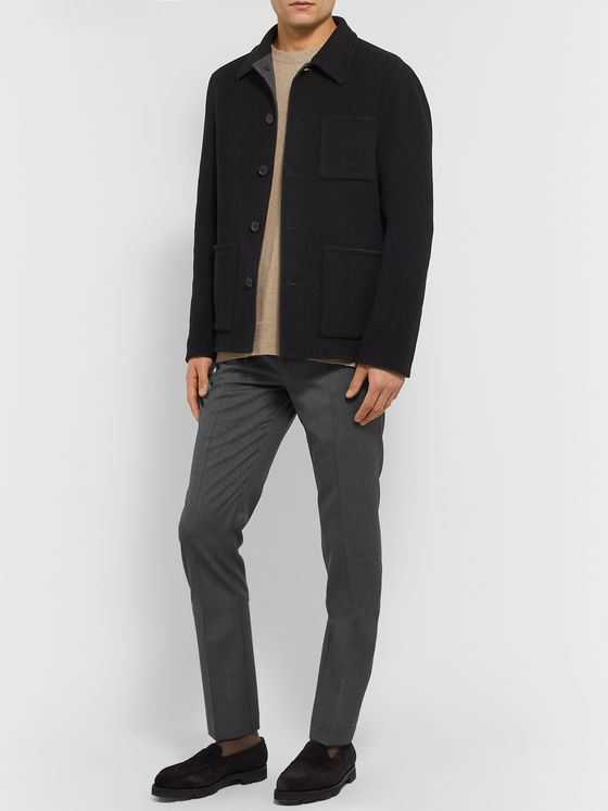 Incotex Tapered Wool Trousers