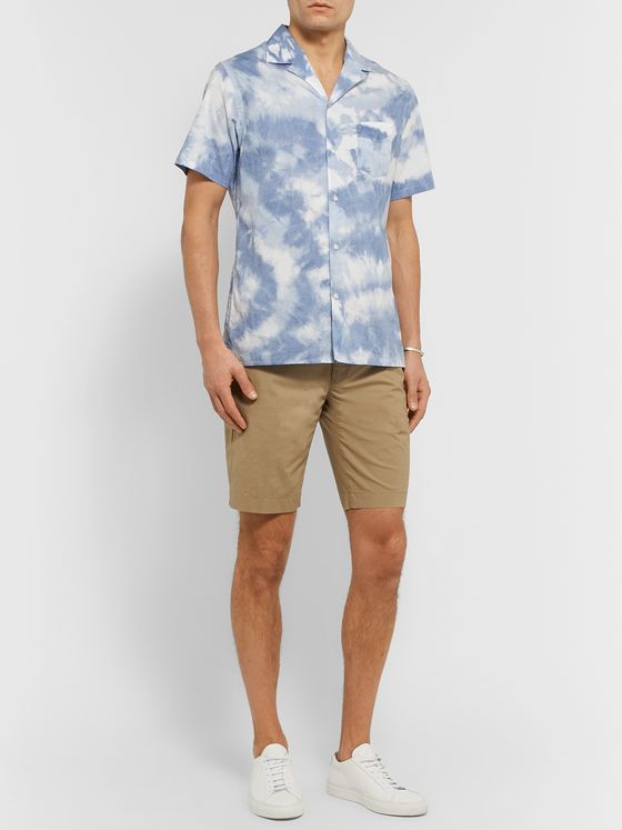 Incotex Slim-Fit Cotton-Blend Poplin Bermuda Shorts