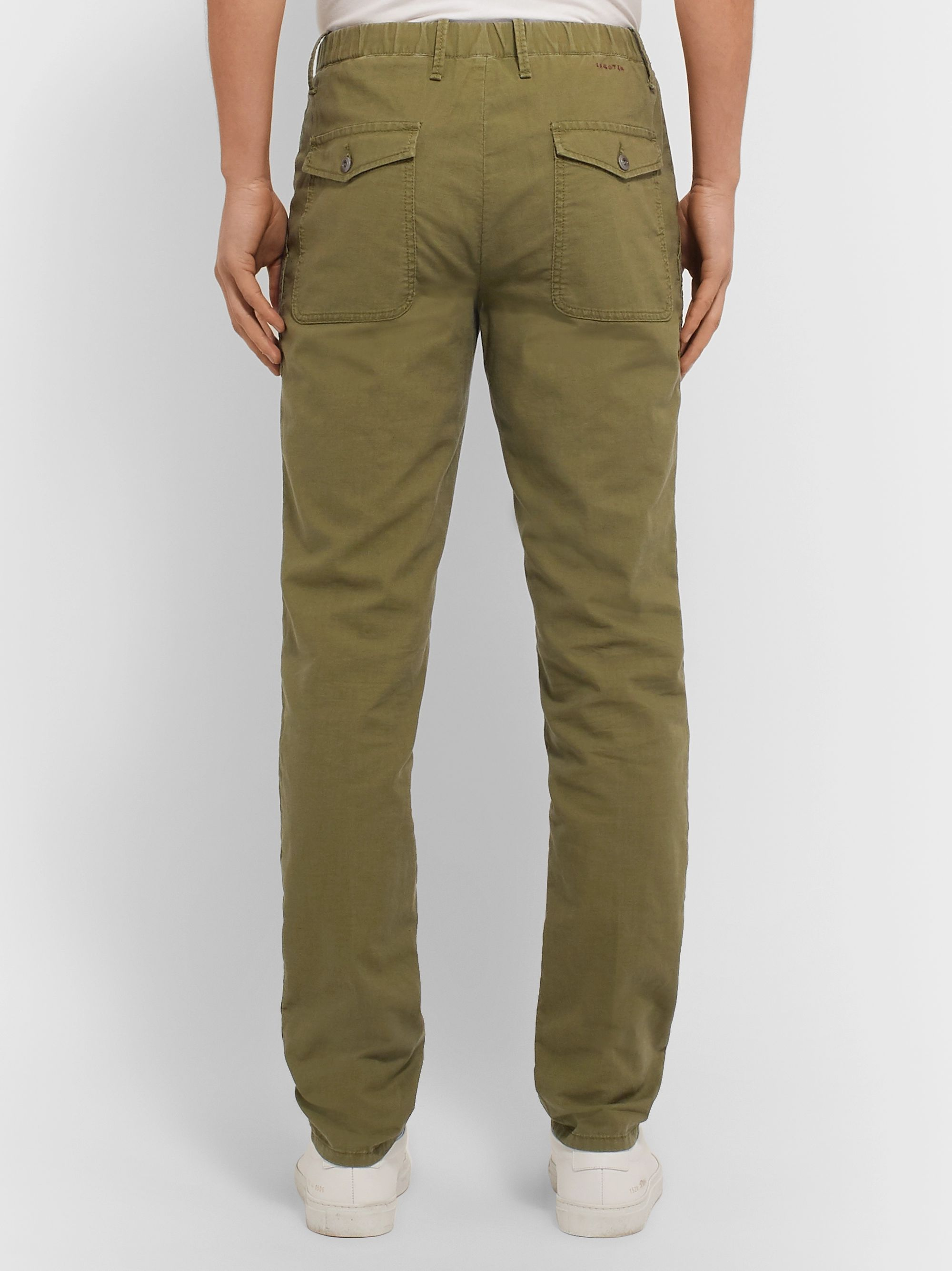 Incotex Slim-Fit Garment-Dyed Cotton Drawstring Trousers