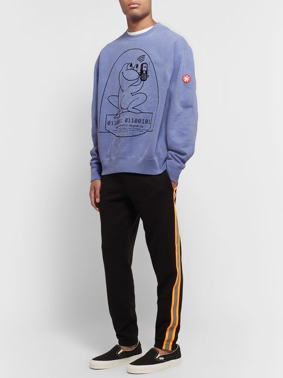 Cav Empt Embroidered Loopback Cotton-Jersey Sweatshirt