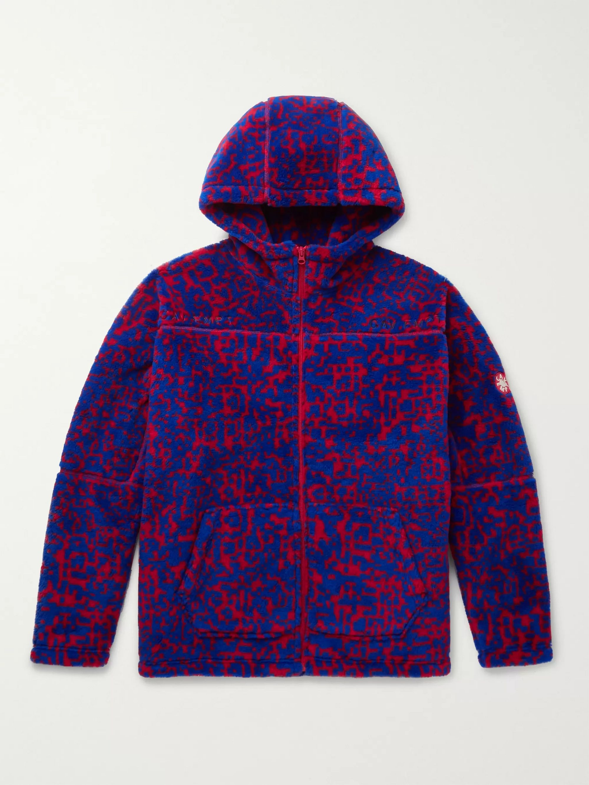 Printed Fleece Zip Up Hoodie by Cav Empt
