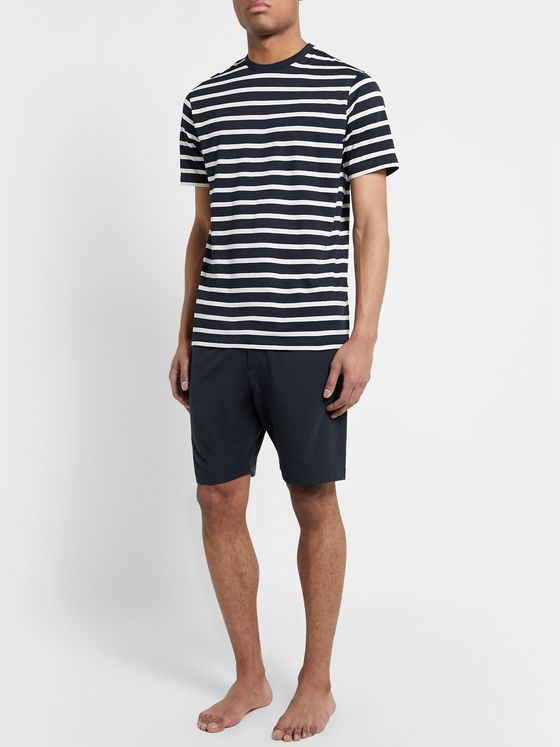 Hamilton and Hare Stretch Lyocell-Blend Jersey Shorts