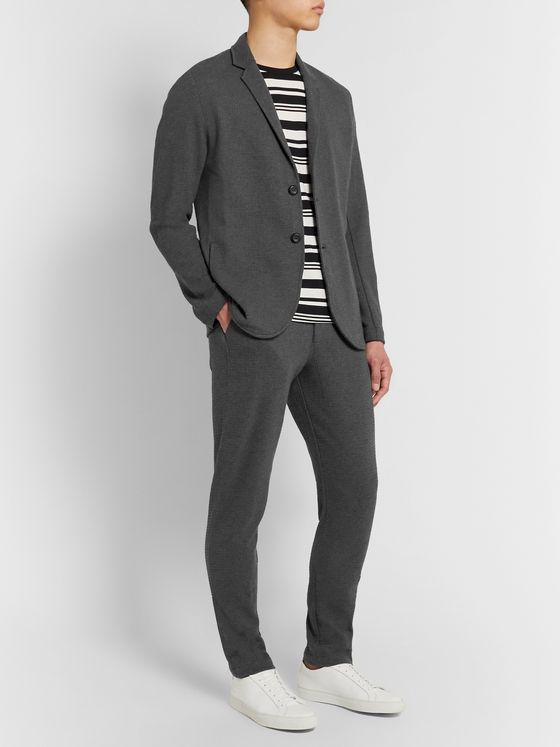 Hamilton and Hare Waffle-Knit Cotton Suit Jacket