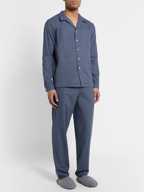Hamilton and Hare Brushed Cotton-Flannel Pyjama Trousers