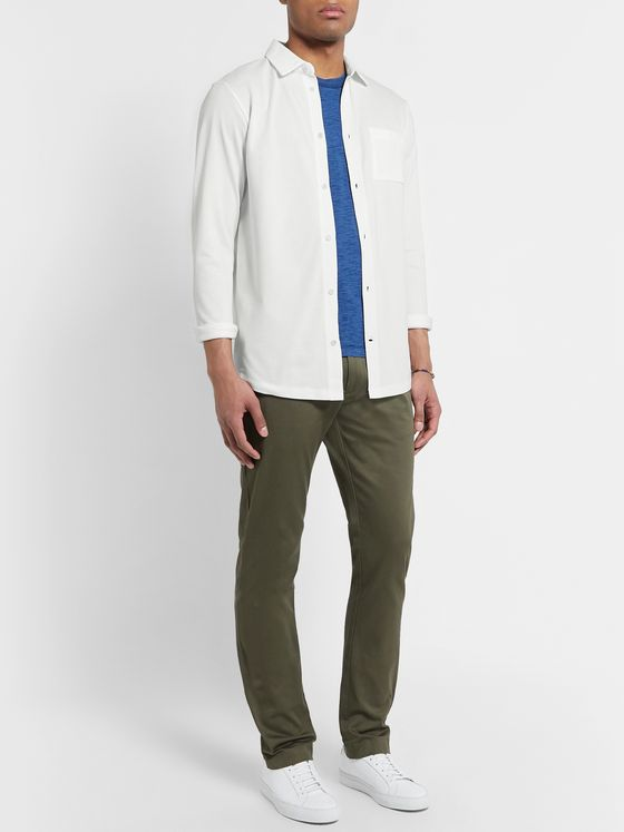 Hamilton and Hare Travel Cotton-Piqué Shirt