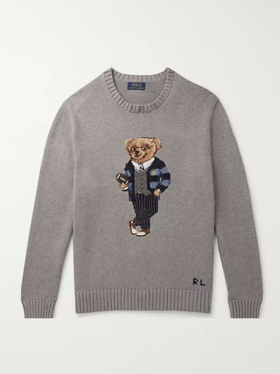 Polo Ralph Lauren Polo Bear Intarsia Cotton Sweater