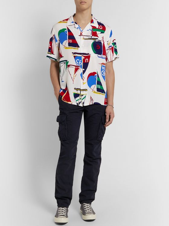 Polo Ralph Lauren CP-93 Camp-Collar Printed Woven Shirt