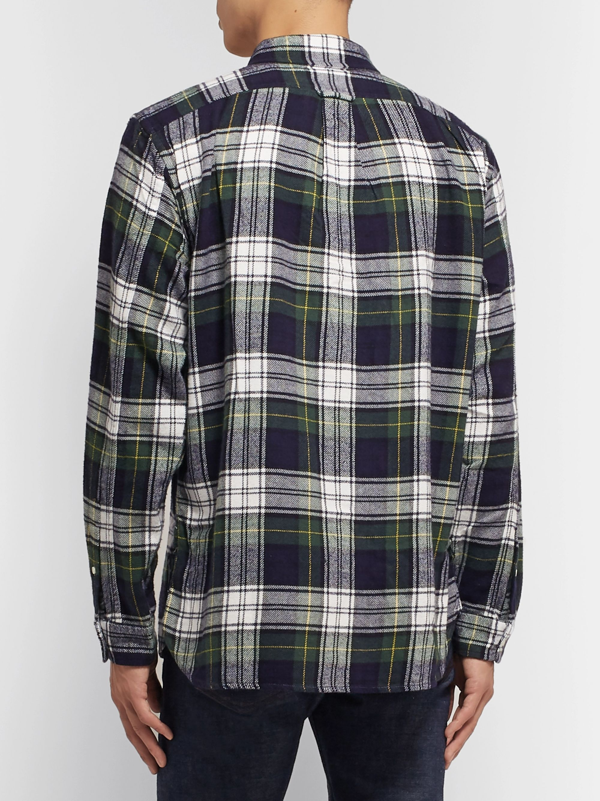 Alex Mill Button-Down Collar Checked Cotton-Flannel Shirt