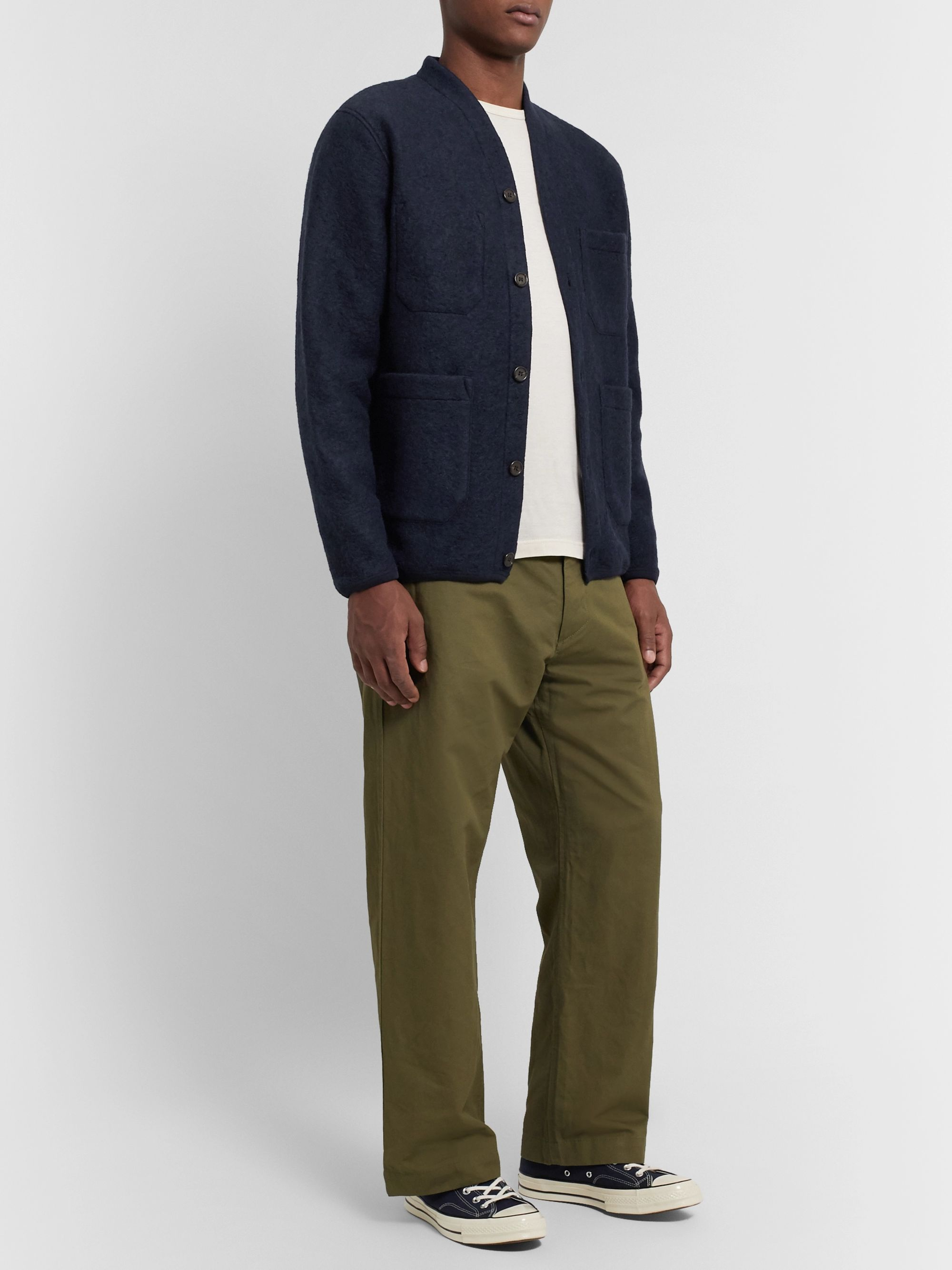 Universal Works Brushed Wool-Blend Cardigan