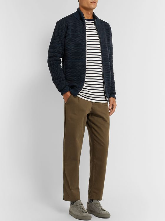 S.N.S. Herning Virgin Wool Zip-Up Cardigan