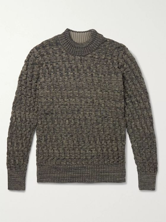 S.N.S. Herning Stark Slim-Fit Virgin Wool Mock-Neck Sweater