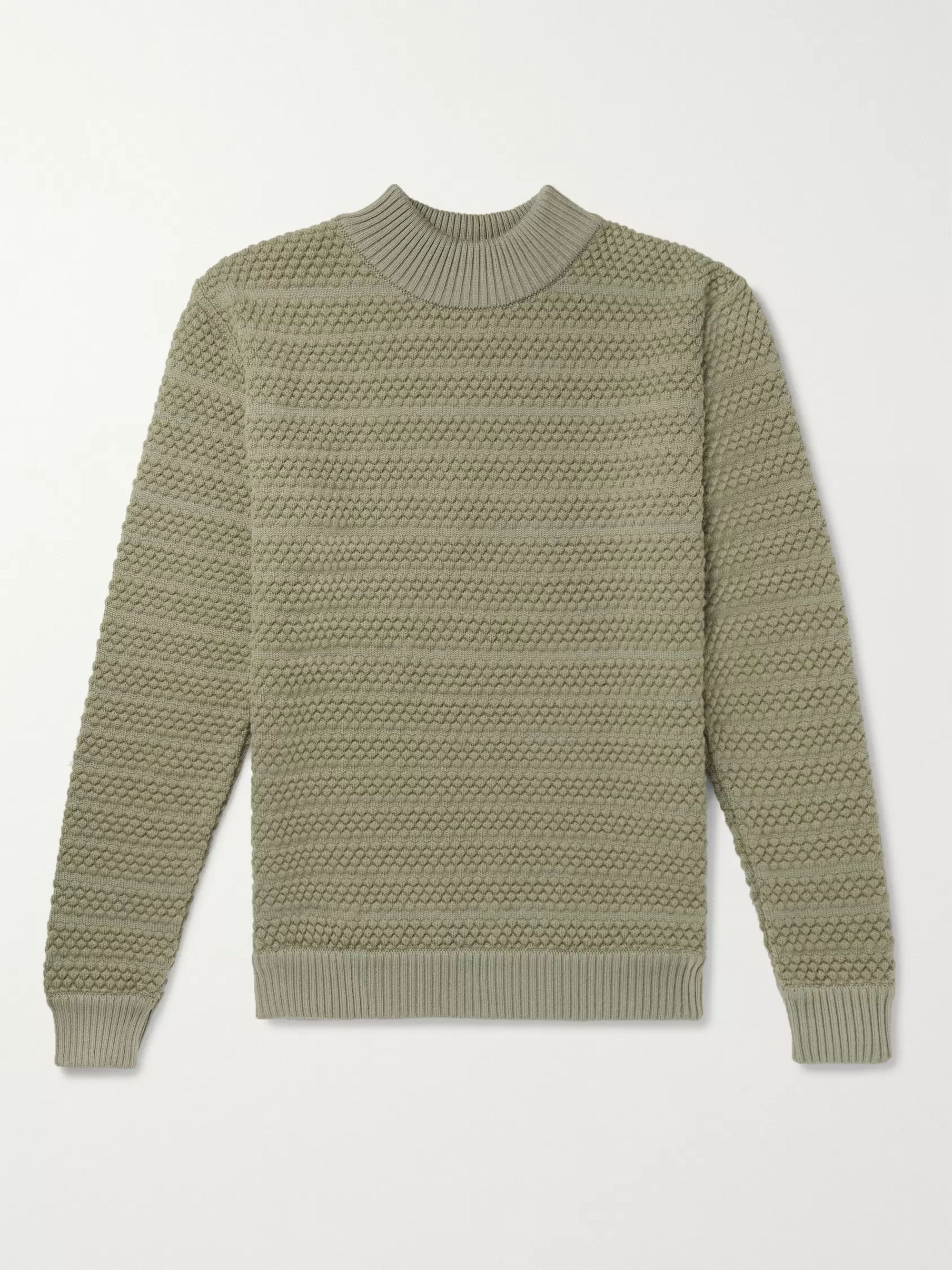 S.N.S. Herning Wool Mock-Neck Sweater