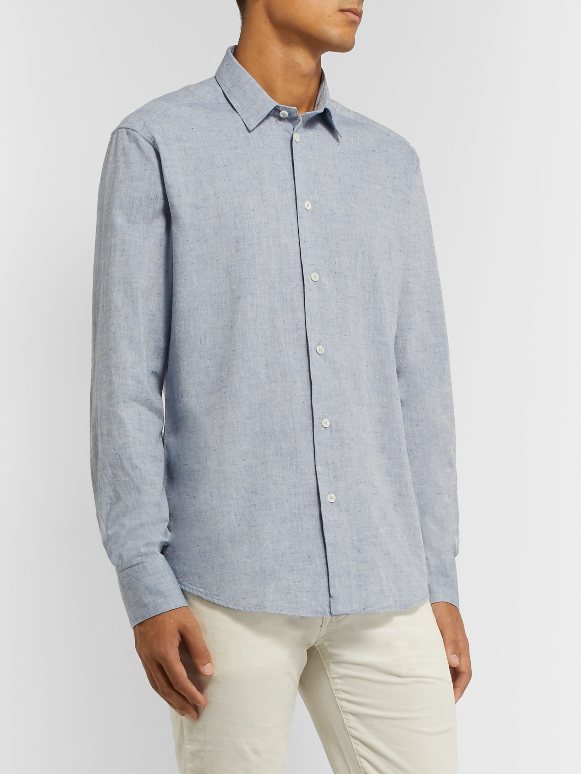 Barena Slim-Fit Slub Cotton Shirt