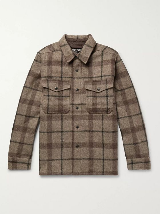 Filson Checked Mackinaw Wool Shirt Jacket
