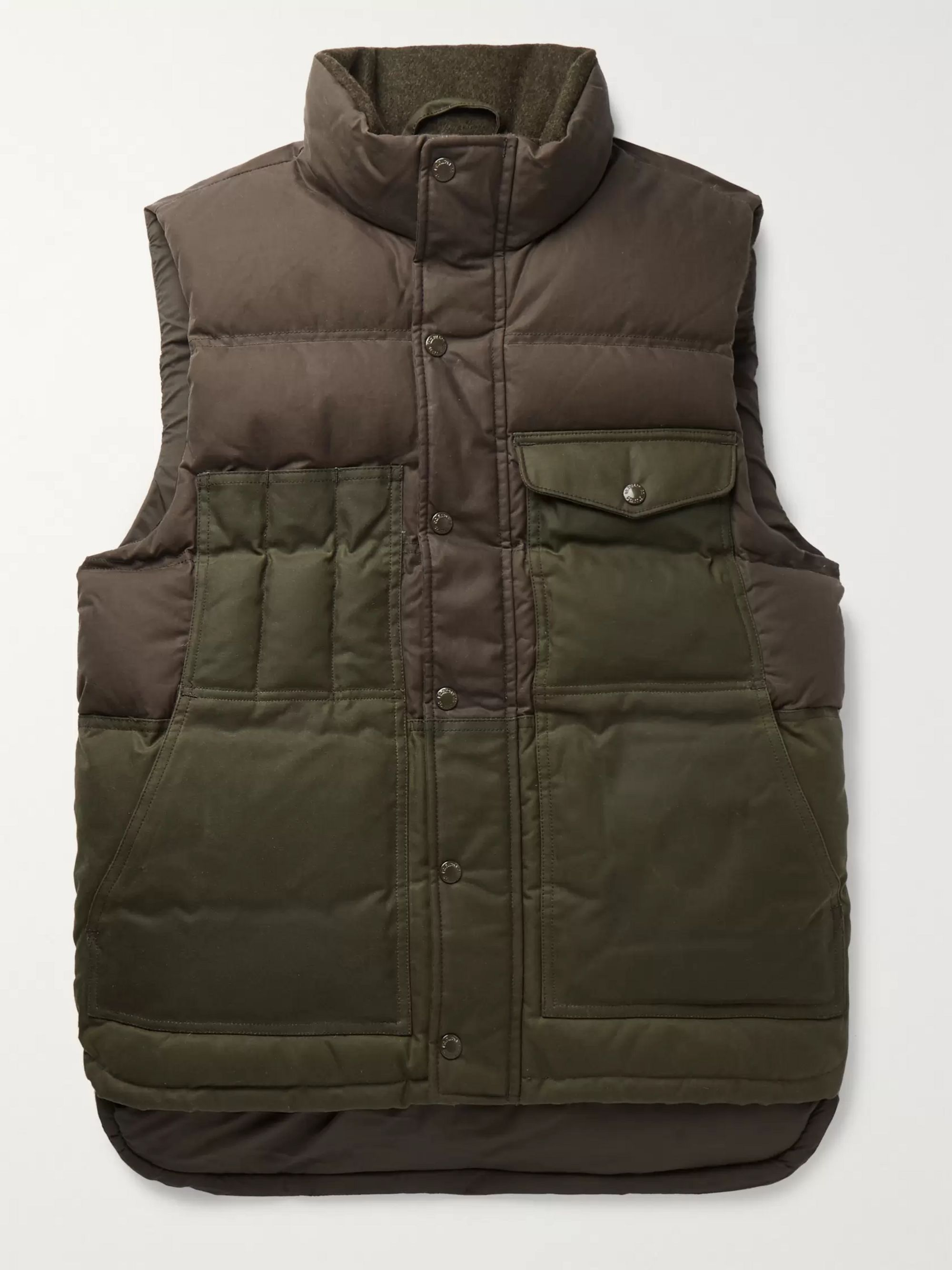 Filson Cruiser Two-Tone Quilted Cotton Down Gilet
