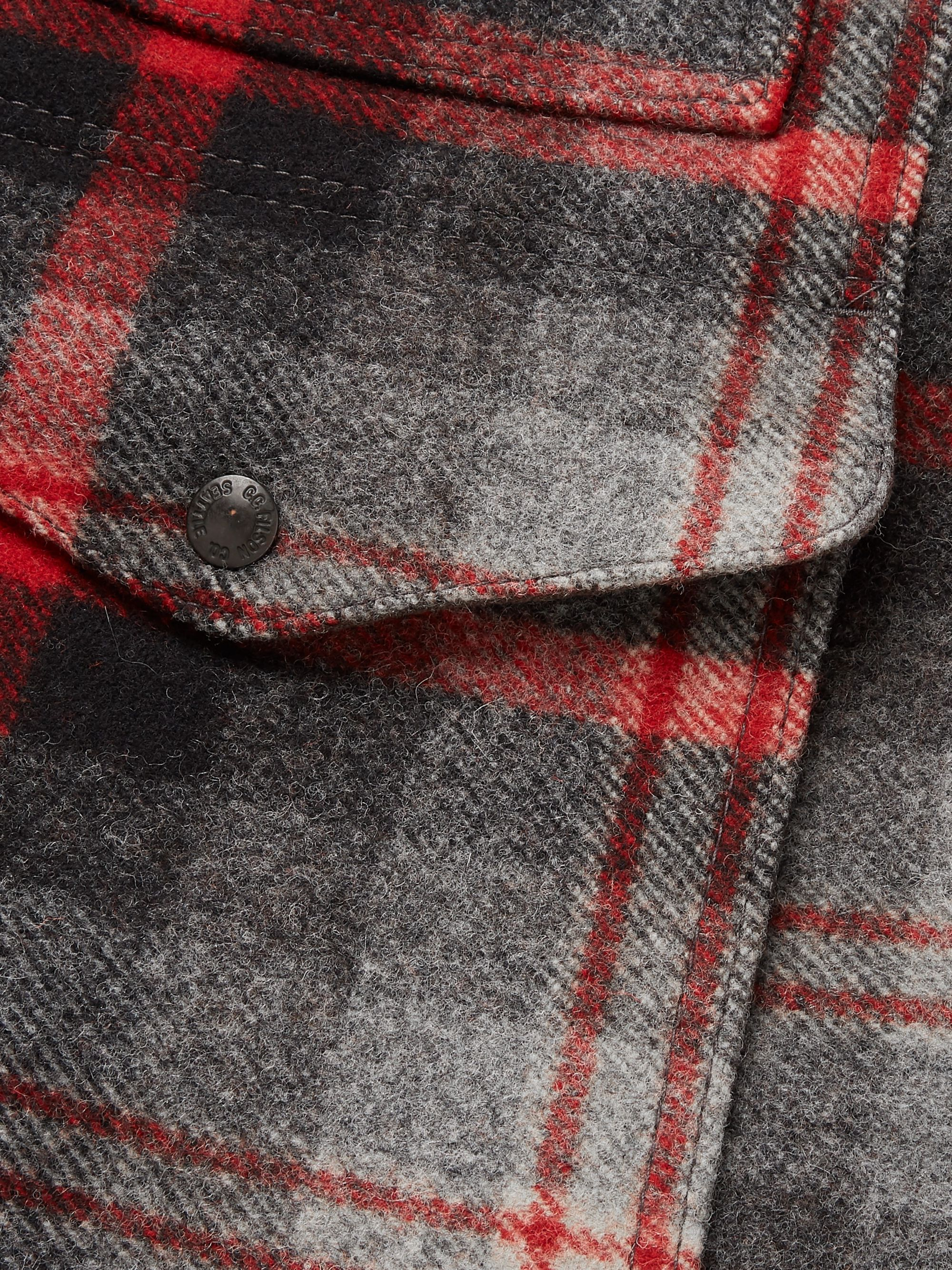 Filson Limited Edition Packer Shearling-Trimmed Checked Wool Coat