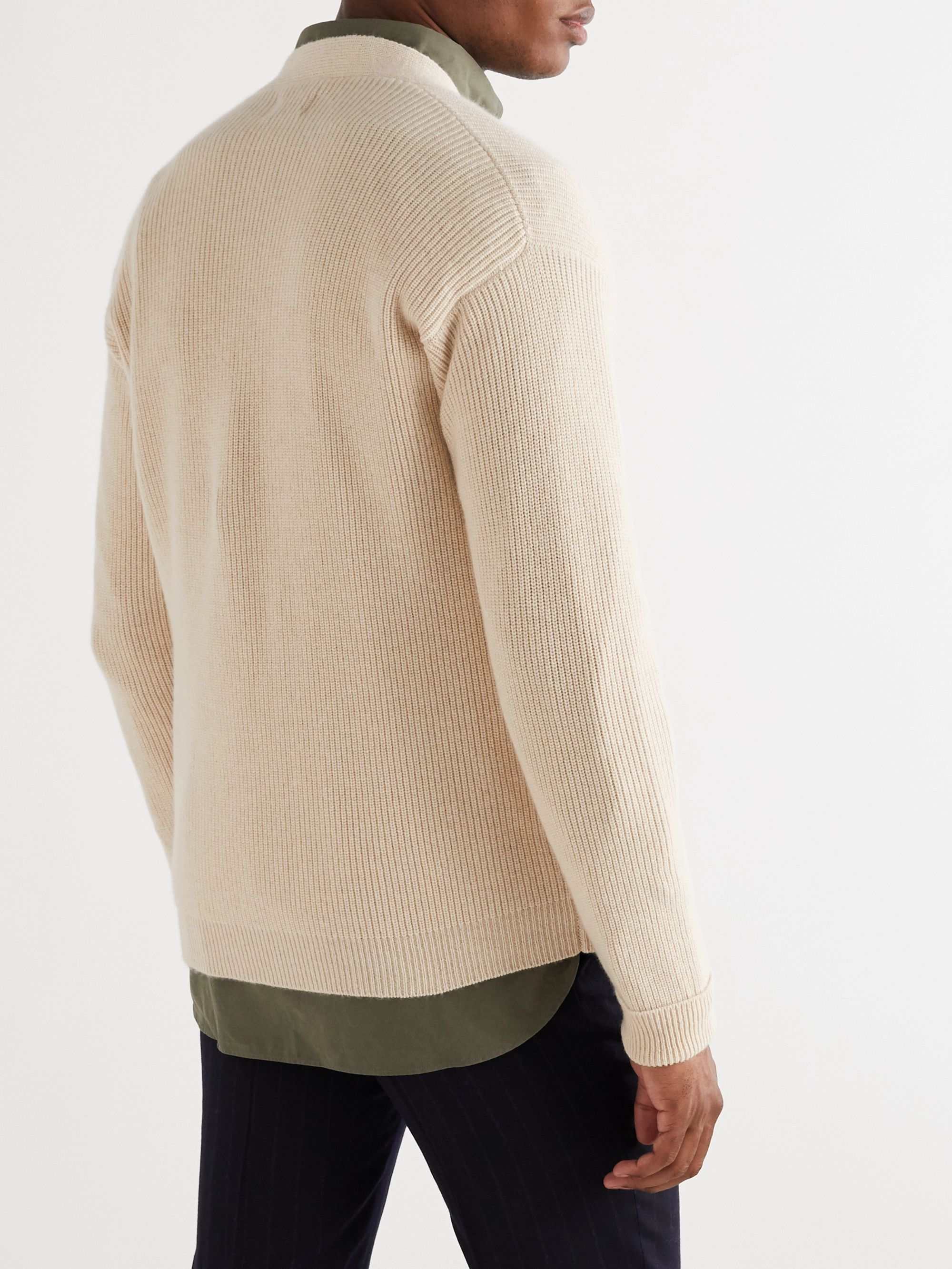 KINGSMAN Harry Ribbed Cashmere Cardigan