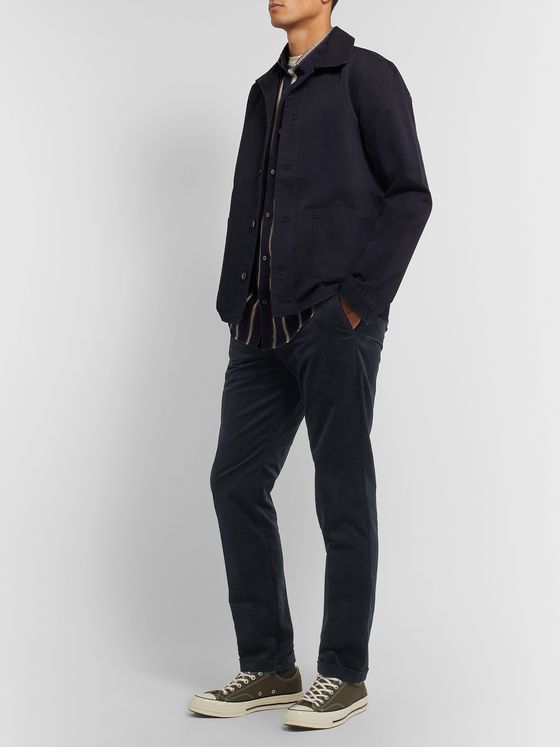 NN07 Navy Scott Cotton-Corduroy Trousers