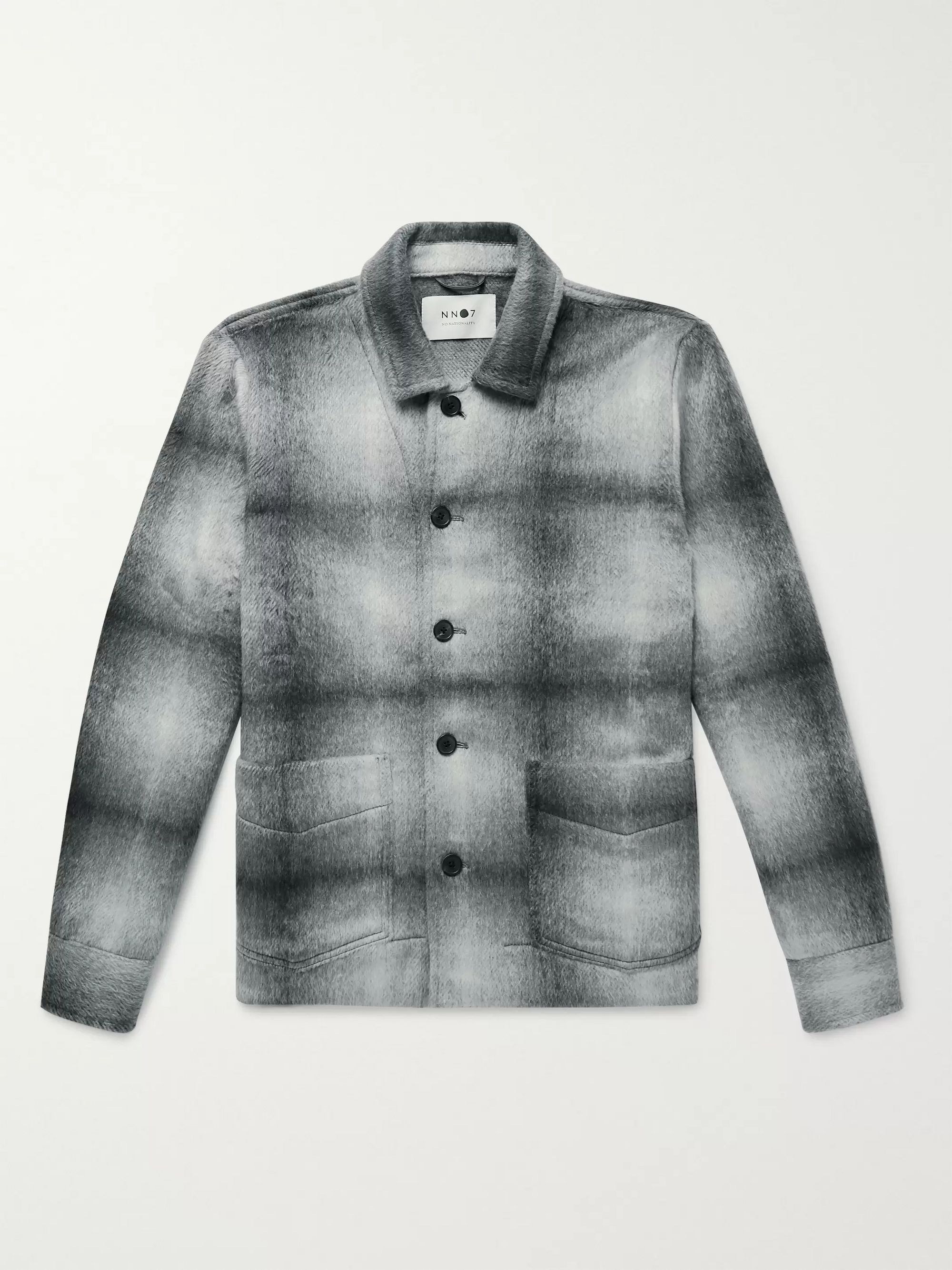 NN07 Checked Brushed Flannel Overshirt