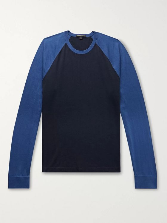 James Perse Colour-Block Cotton-Jersey T-Shirt