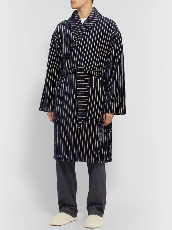 NN07 Striped Cotton-Blend Terry Robe