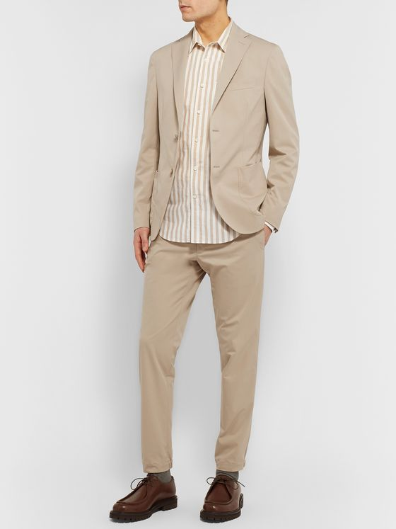 Incotex Beige Urban Traveller Slim-Fit Tech-Twill Suit Trousers