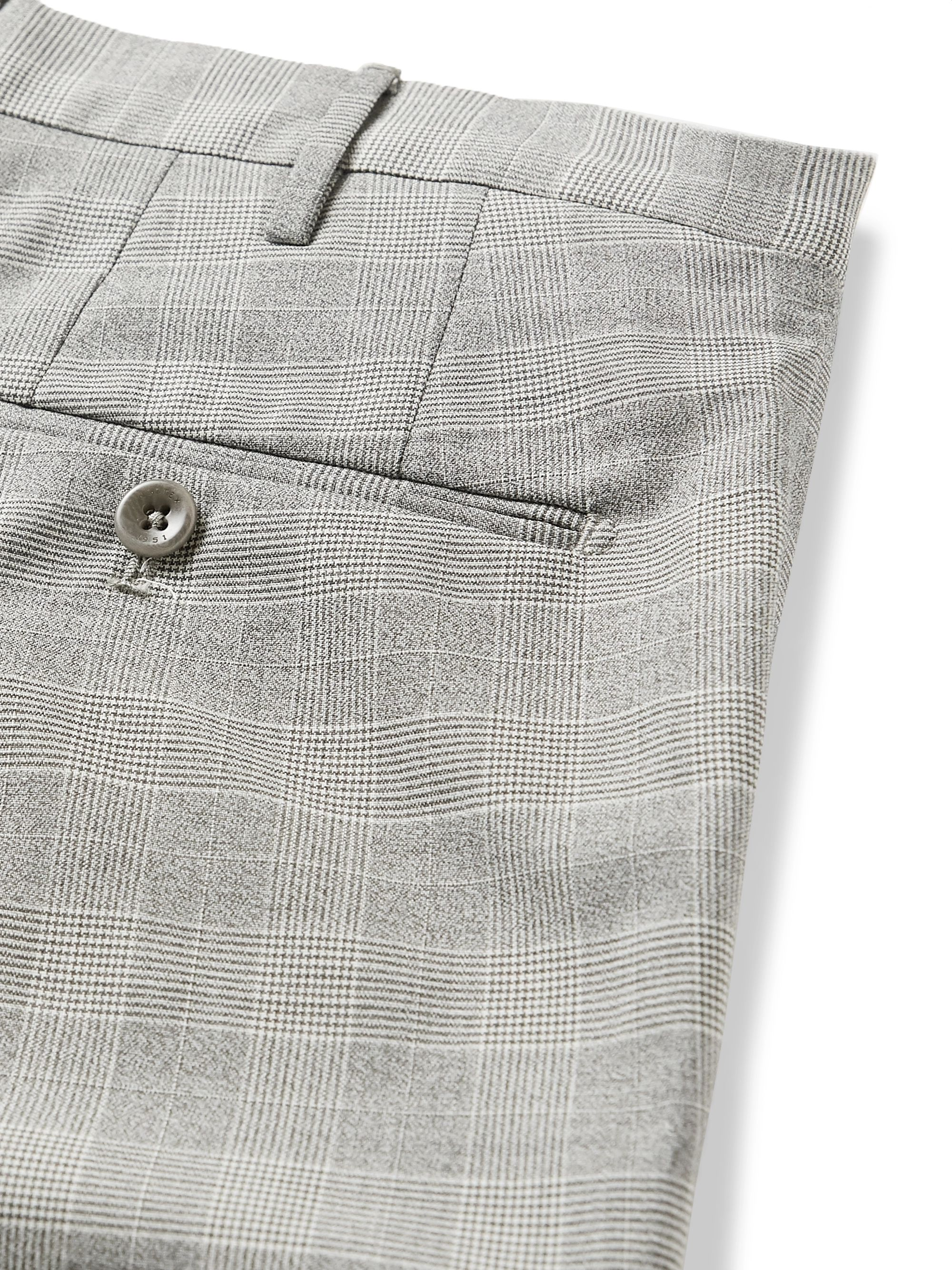 Incotex Slim-Fit Prince of Wales Checked Woven Trousers