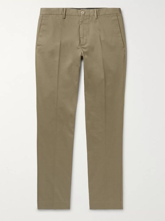 Incotex Slim-Fit Cotton-Blend Twill Chinos
