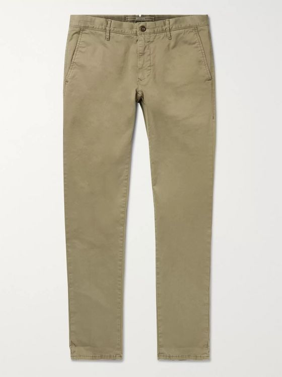 Incotex Slim-Fit Stretch-Cotton Twill Chinos
