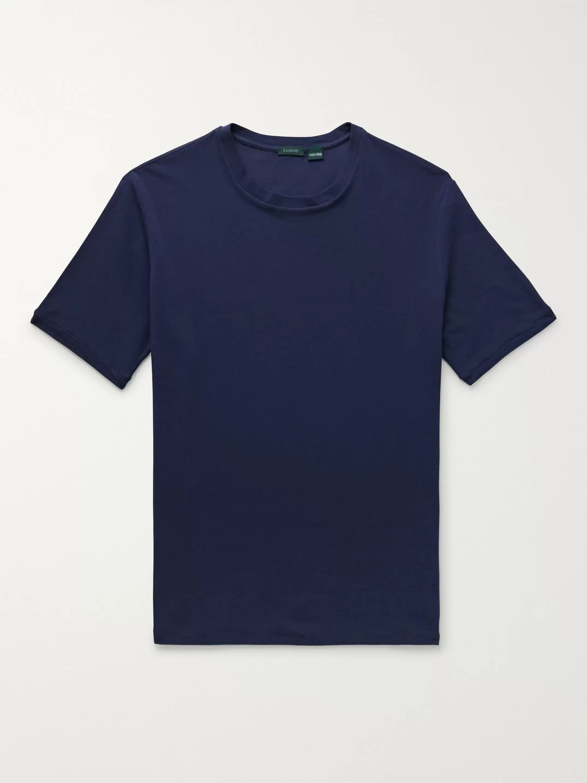 Incotex Slim-Fit Ice Cotton-Piqué T-Shirt