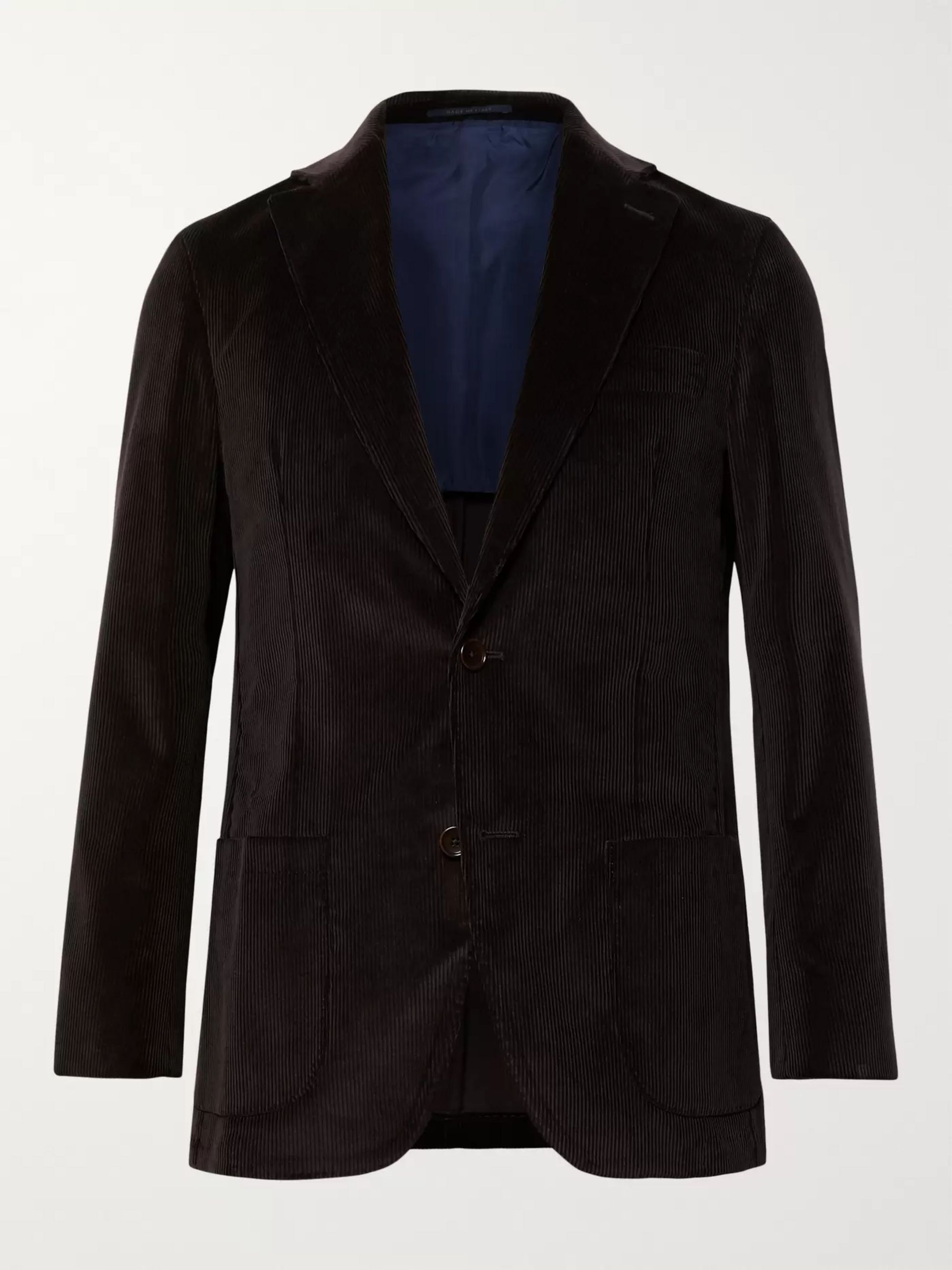 Sid Mashburn Chocolate Kincaid No 1 Cotton-Corduroy Suit Jacket