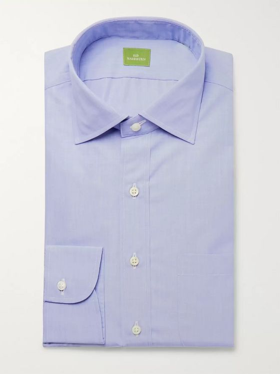 Sid Mashburn Blue End-on-End Cotton Shirt