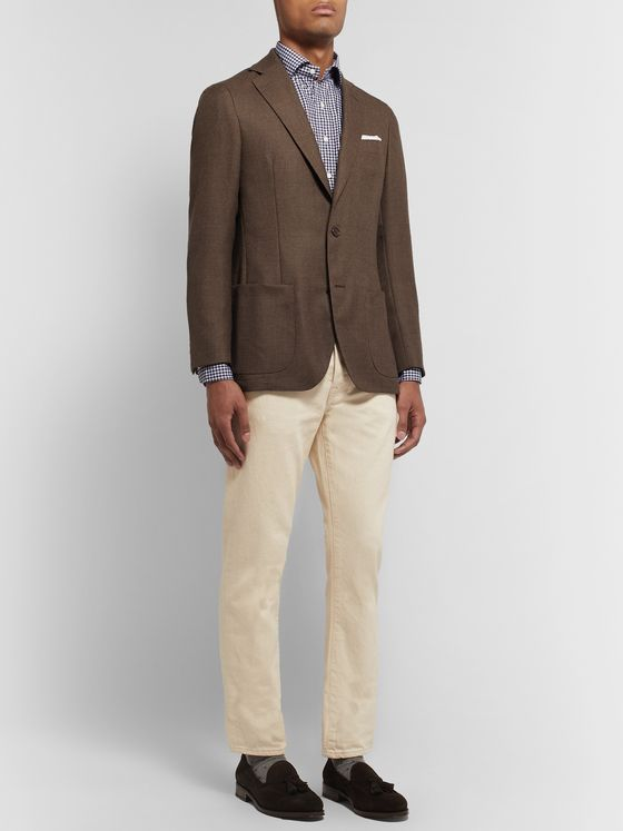 Sid Mashburn Brown Kincaid No 1 Unstructured Wool-Hopsack Blazer
