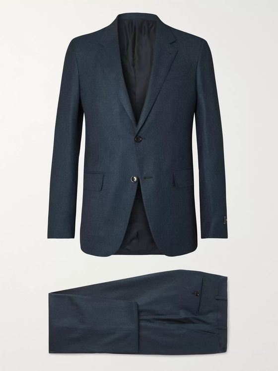 Ermenegildo Zegna Navy Slim-Fit Cashmere and Silk-Blend Suit
