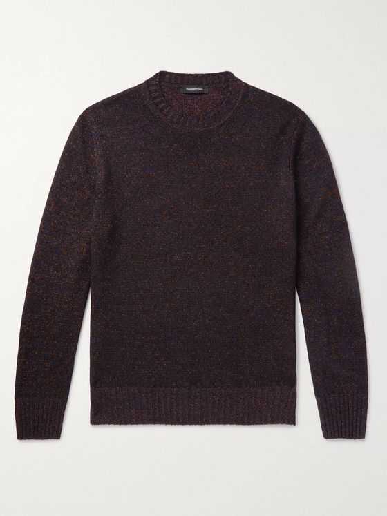 Ermenegildo Zegna Mélange Cashmere and Silk-Blend Sweater