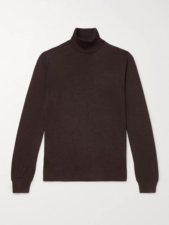 Ermenegildo Zegna Cashmere and Silk-Blend Rollneck Sweater