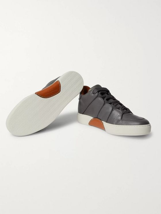Ermenegildo Zegna Full-Grain Leather Sneakers