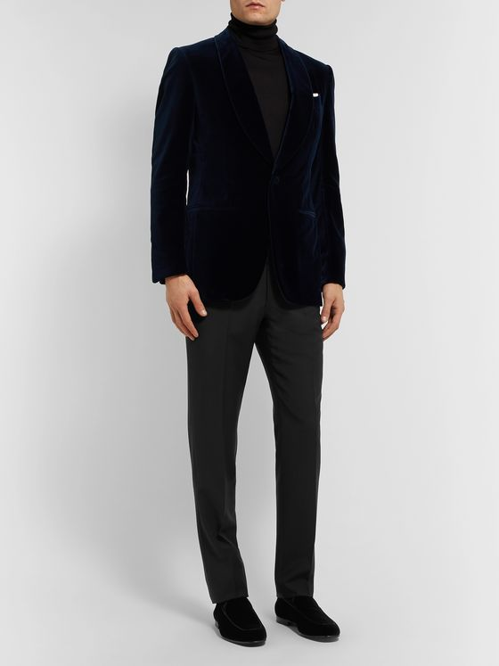 Ermenegildo Zegna Slim-Fit Wool and Mohair-Blend Trousers