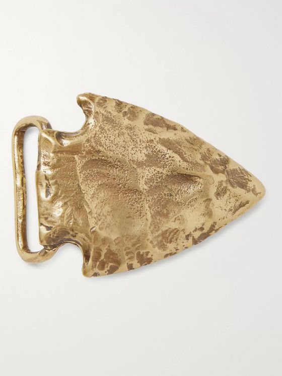 Sid Mashburn Arrowhead Brass Belt Buckle