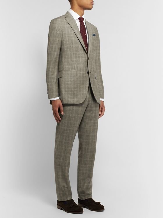 Sid Mashburn Brown Kincaid No 3 Prince of Wales Checked Wool Suit