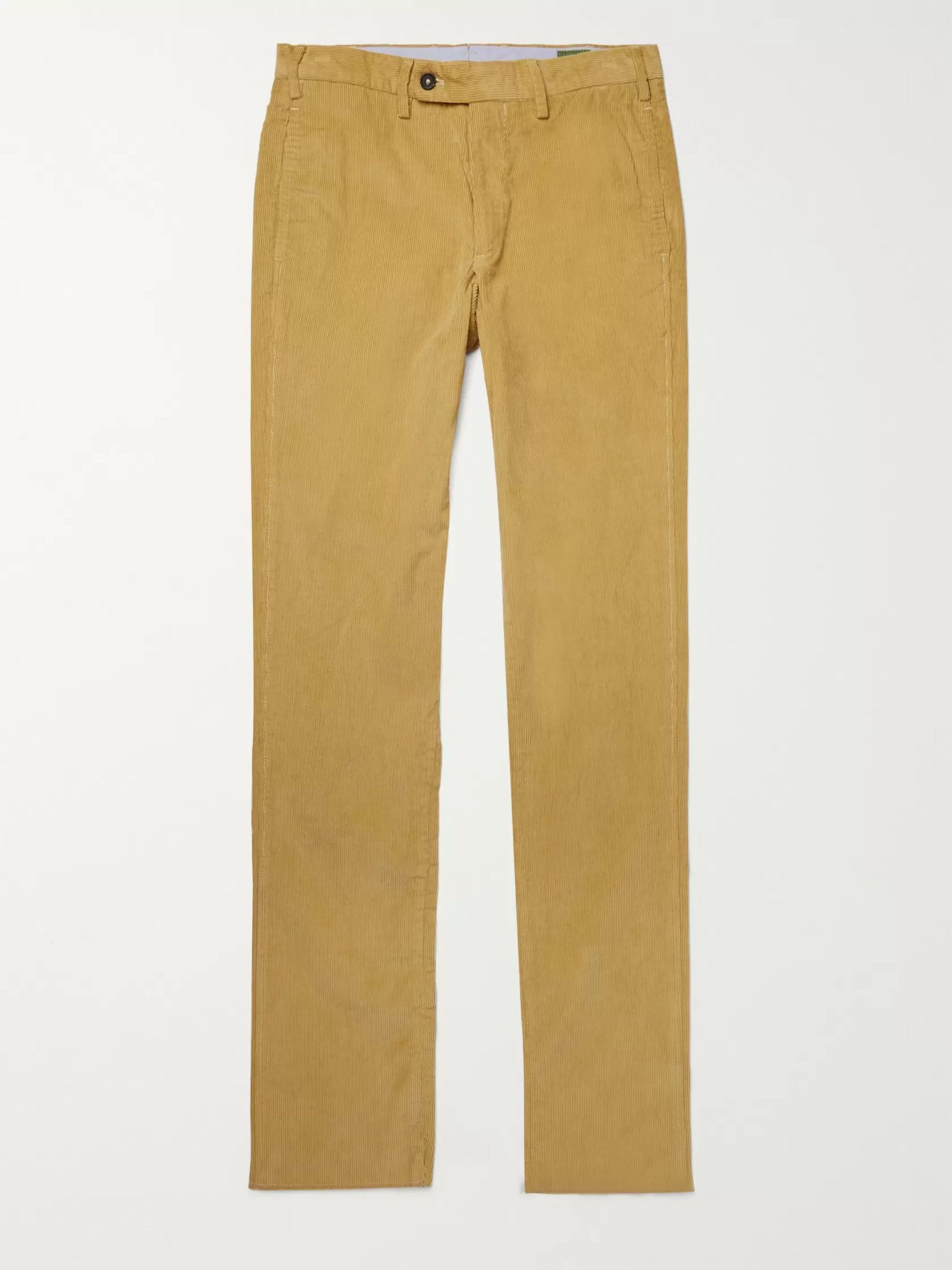 Sid Mashburn Slim-Fit Cotton-Corduroy Trousers