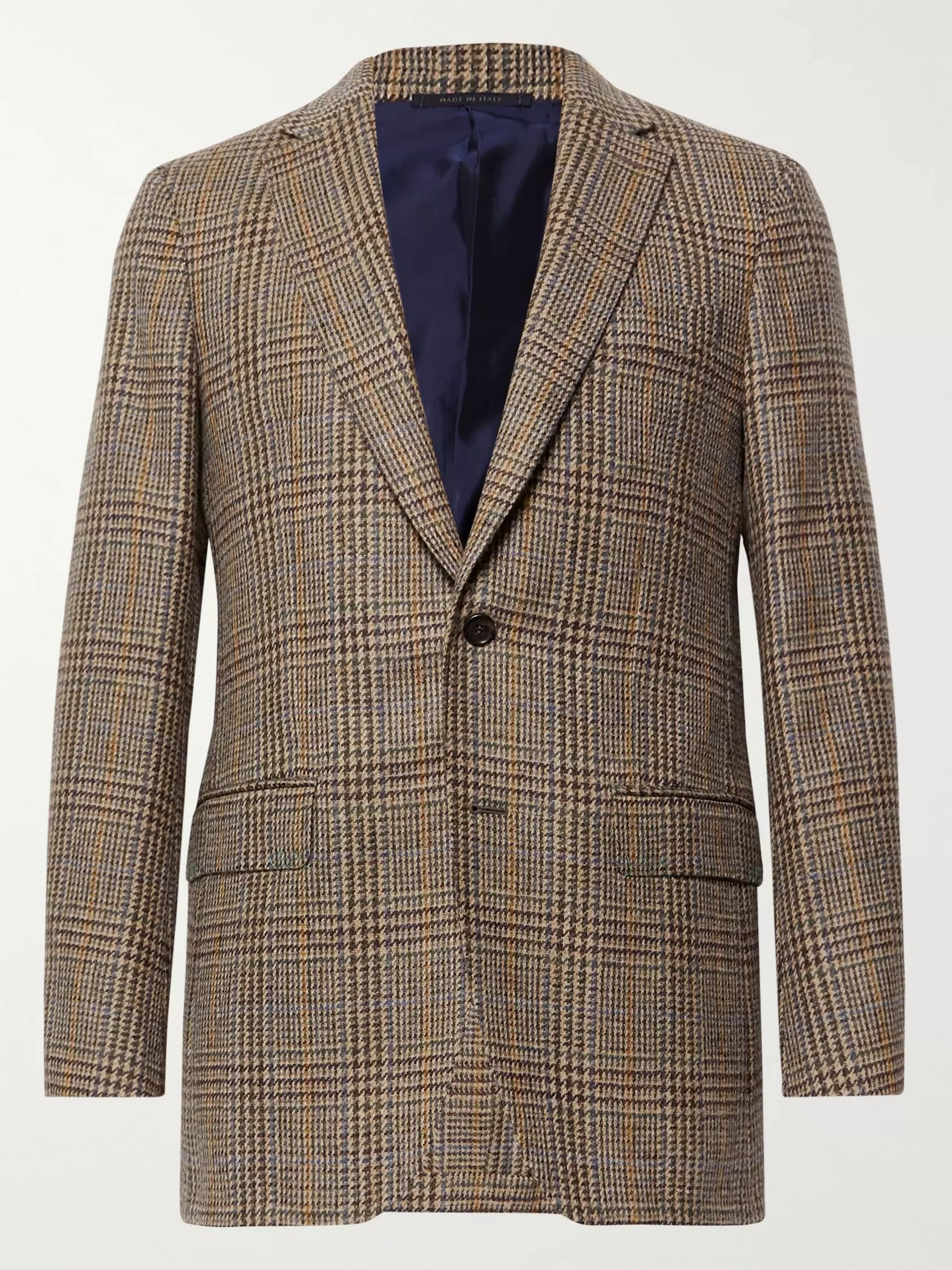 Sid Mashburn Brown Kincaid No 3 Slim-Fit Checked Wool-Hopsack Blazer