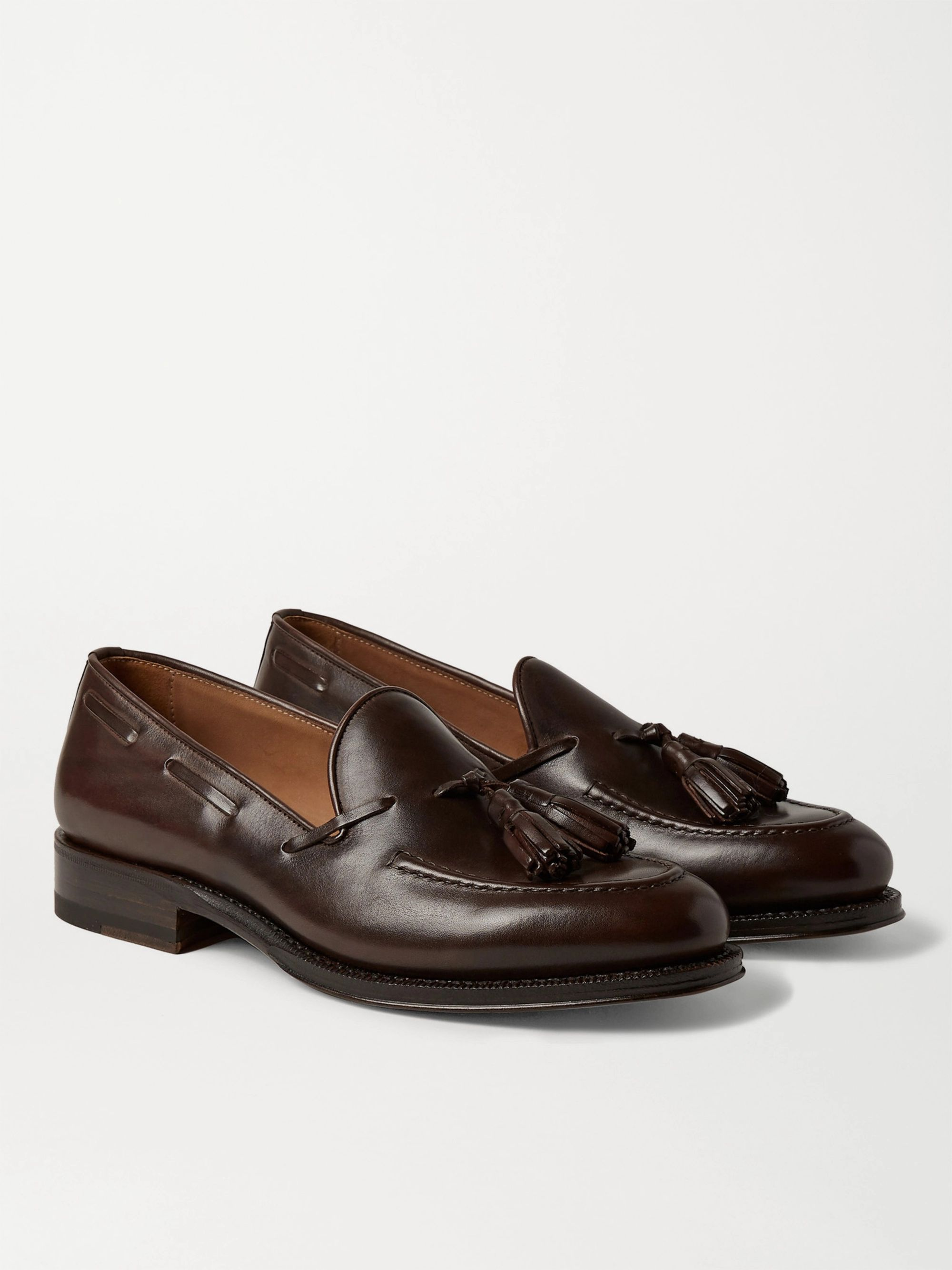 Sid Mashburn Leather Tasselled Loafers