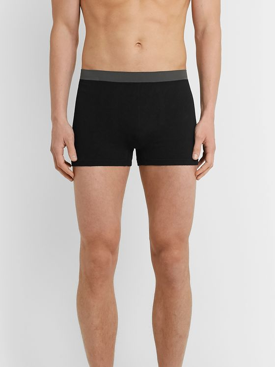 Hamilton and Hare Pack of Five Bamboo-Blend Boxer Briefs