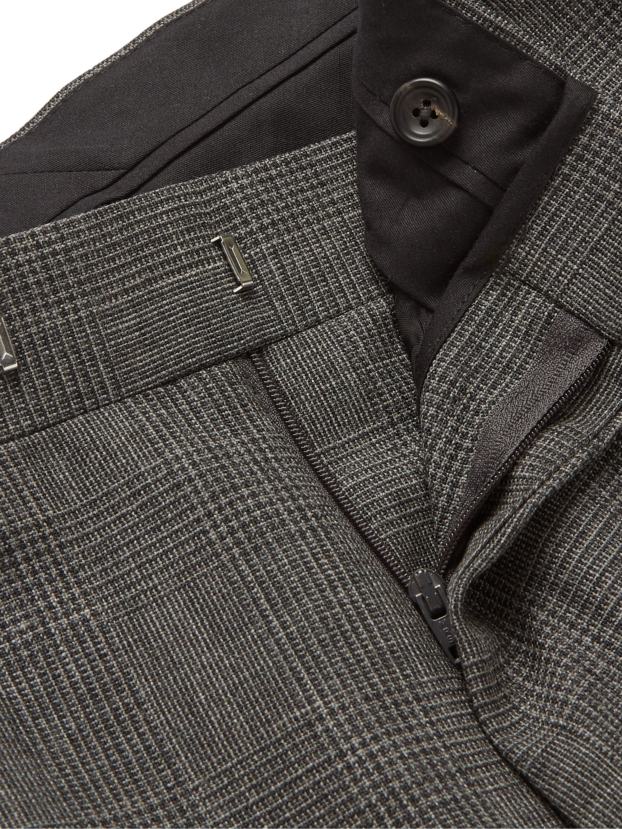 Kingsman Archie Reid Slim-Fit Prince of Wales Checked Wool Suit Trousers