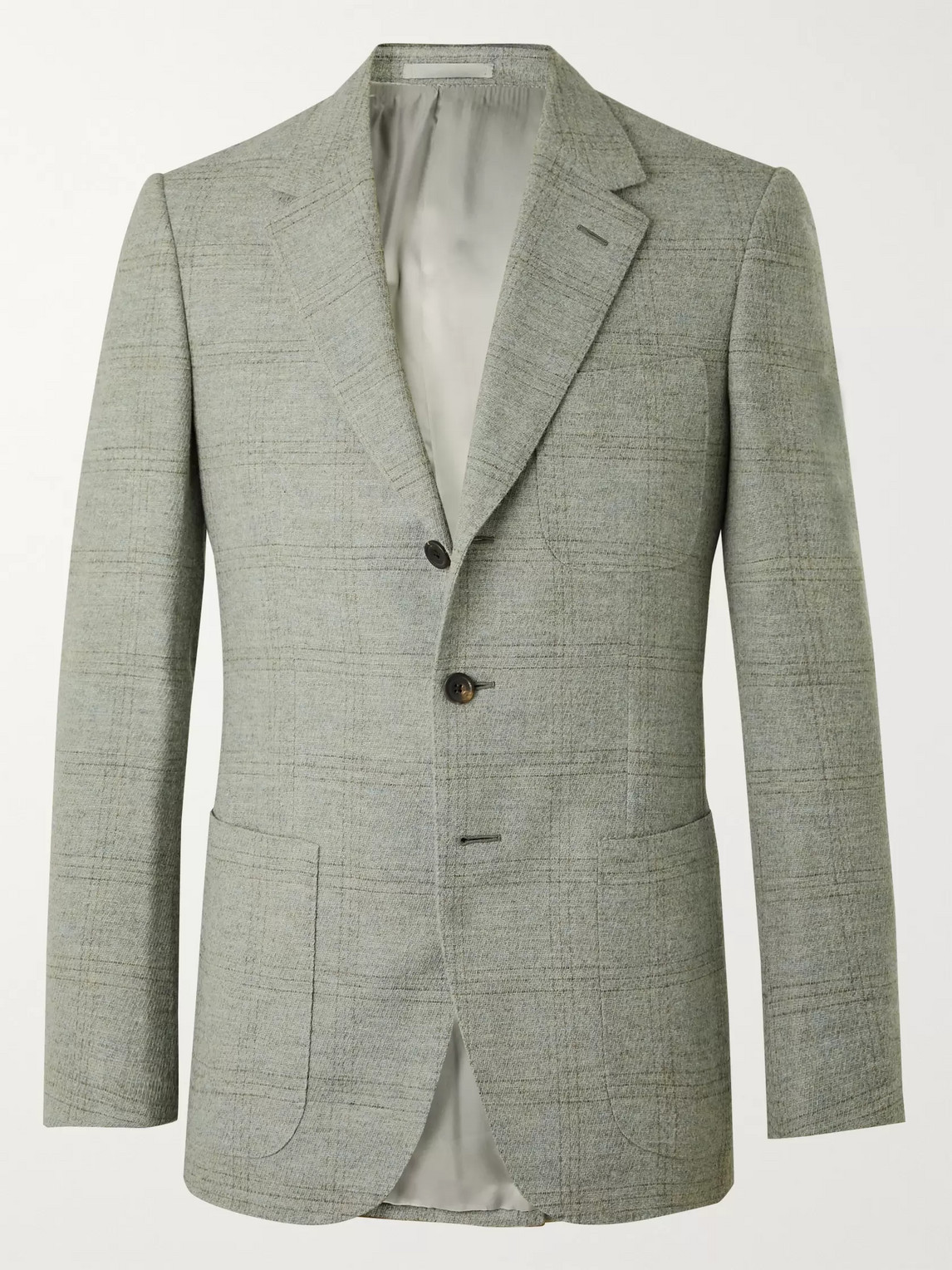 Kingsman Conrad Slim-fit Checked Wool Suit Jacket In Blue
