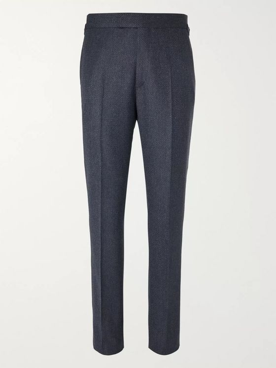 KINGSMAN Conrad Slim-Fit Mélange Wool Suit Trousers